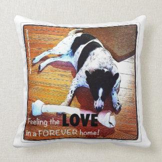 Feeling The Love Border Collie Throw Pillow