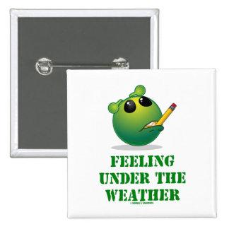 Feeling Under The Weather (Green Alien Attitude) Pinback Button