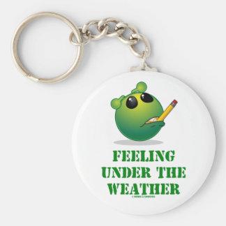 Feeling Under The Weather Green Alien Attitude Key Chain