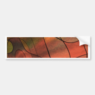 feelings abstract red bumper sticker