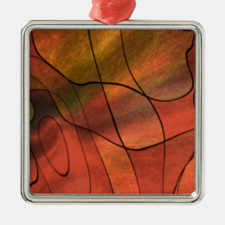 feelings abstract red christmas tree ornaments