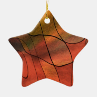 feelings abstract red christmas tree ornament