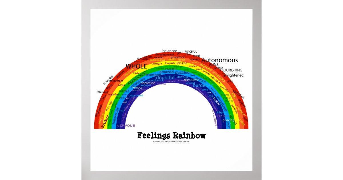 Feelings Rainbow Poster Zazzle