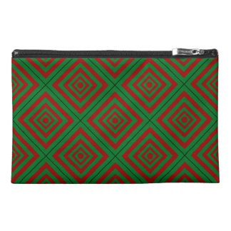 FEELS LIKE CHRISTMAS! (a red & green tile design) Travel Accessories Bags