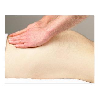 Feels So Good. Low Back Massage. Postcard