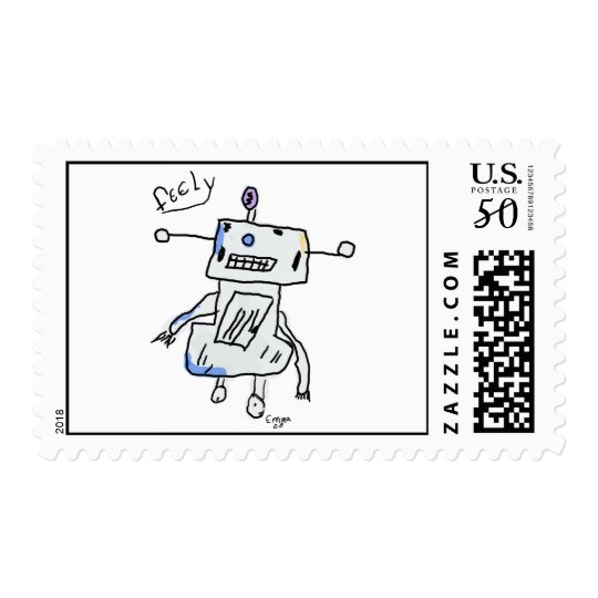 Feely the Robot Postage