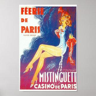Féerie de Paris Mistinguett Paris cabaret Poster
