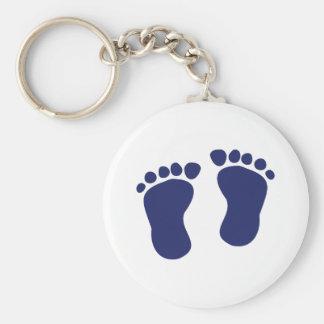 Feet - Baby Basic Round Button Keychain