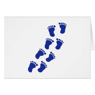 Feet baby card