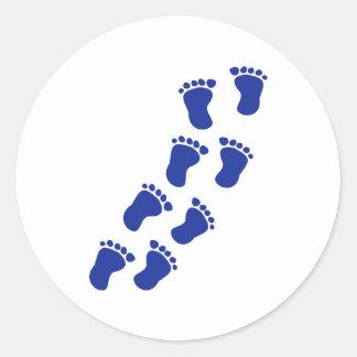 Feet baby classic round sticker