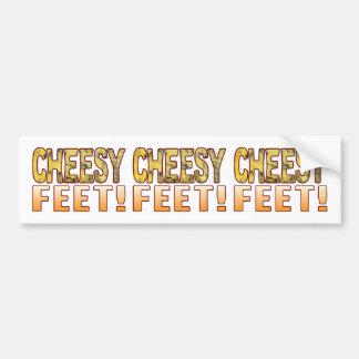 Feet Blue Cheese Bumper Sticker