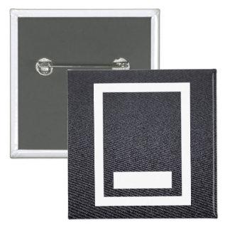 Feet Boards Symbol 2 Inch Square Button