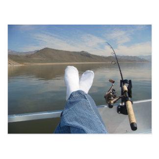 feet fishing postcard