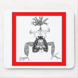 Feet in mouth mouse pad