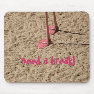 feet in the sand, need a break! mouse pad