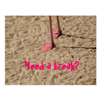 feet in the sand, Need a break? Post Cards