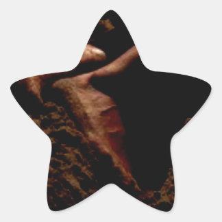 FEET IN THE SAND STAR STICKER