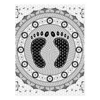 Feet Mandala Postcard
