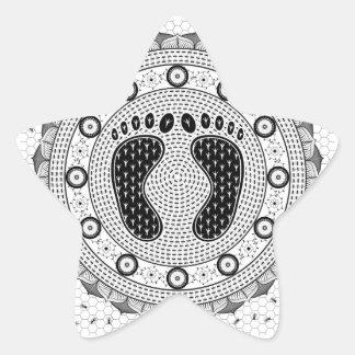 Feet Mandala Star Sticker