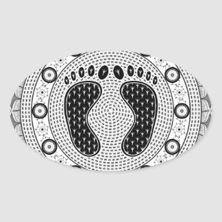 Feet Mandala Stickers