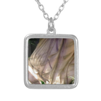 Feet Of Statue Silver Plated Necklace