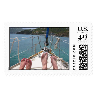 Feet on a Boat Postage Stamp