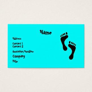 Feet on a Business Card