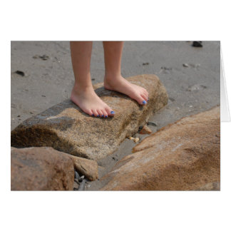 Feet on Solid Ground Greeting Card