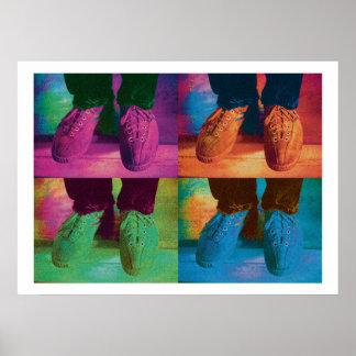 FeetRepeat-Print Poster