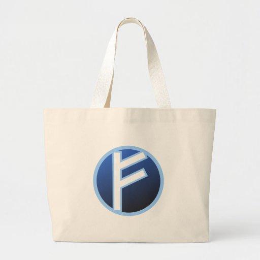Fehu Feoh Rune Jumbo Tote Bag