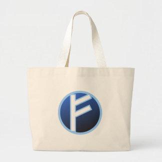 Fehu Feoh Rune Large Tote Bag