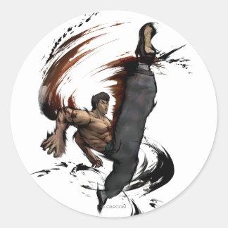 Fei Long High Kick Classic Round Sticker