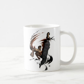 Fei Long High Kick Classic White Coffee Mug