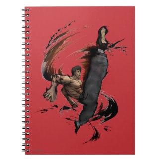 Fei Long High Kick Spiral Notebook