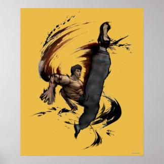 Fei Long High Kick Poster
