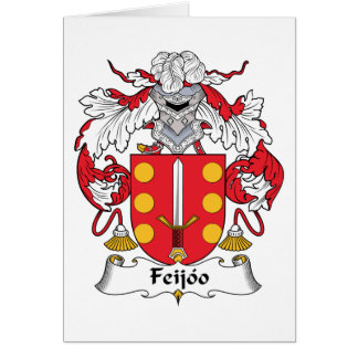 Feijoo Family Crest Greeting Cards