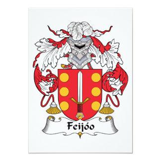 Feijoo Family Crest Personalized Invite