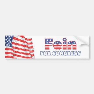 Fein for Congress Patriotic American Flag Design Car Bumper Sticker