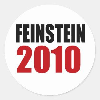 FEINSTEIN 2010 PEGATINAS REDONDAS