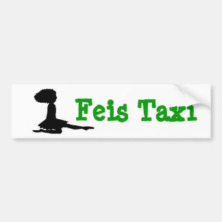 """Feis Taxi"" Irish Dance Bumper Sticker Car Bumper Sticker"