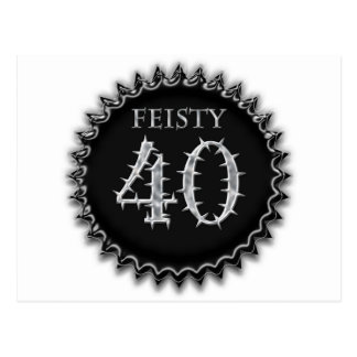 Feisty 40 postcard