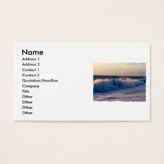 Feisty breaking waves on a florida beach business card