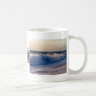 Feisty breaking waves on a florida beach classic white coffee mug
