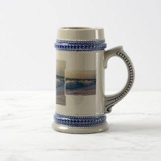 Feisty breaking waves on a florida beach coffee mugs