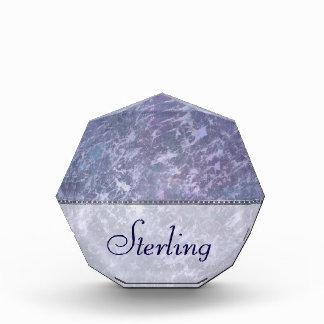 Feisty Desk | Name Purple Splatter Paperweight Acrylic Award