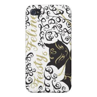 Feisty Feline iPhone 4 Cover