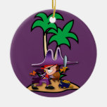 Feisty Girl Pirate Christmas Ornaments