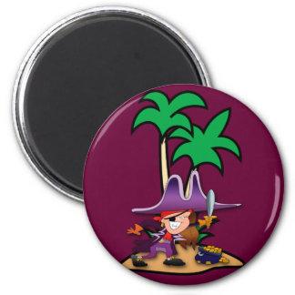 Feisty Girl Pirate Magnet