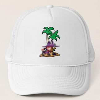 Feisty Girl Pirate Trucker Hat