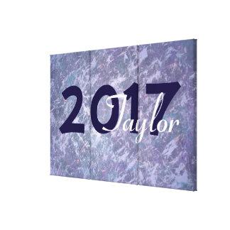 Feisty Grad Purple Metallic Splatter Abstract Canvas Print